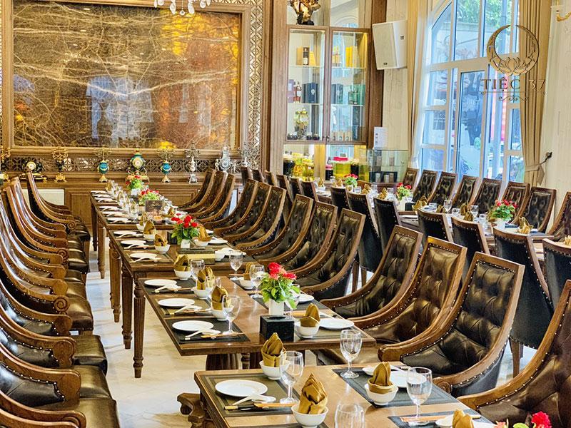 Không gian tổ chức tiệc tại nhà hàng 37A Hùng Vương