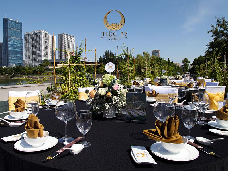 Không gian tổ chức tiệc ngoài trời tại nhà hàng NCC - Trung tâm Hội nghị Quốc gia
