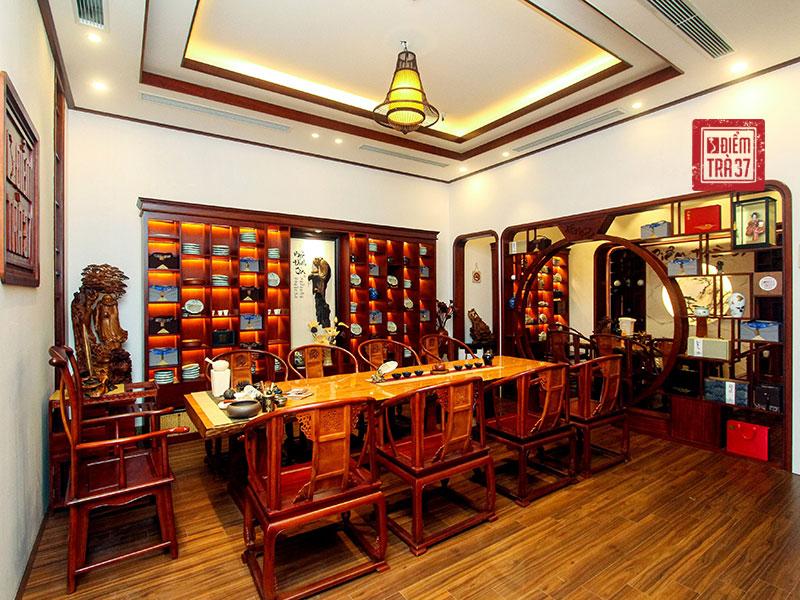 Không gian trà thất sang trọng, đậm nét truyền thống tại Điểm trà 37 - Không gian văn hóa trà Việt