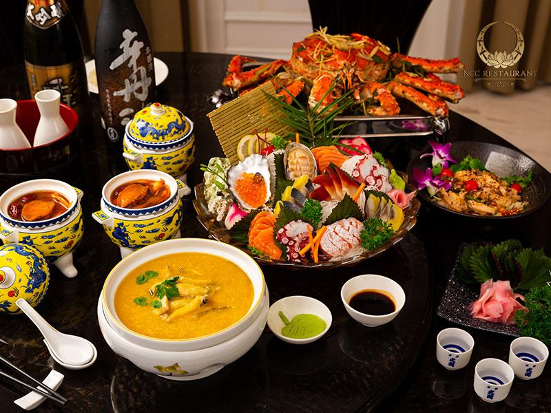 Nhà hàng tổ chức tiệc với thực đơn đa dạng món ngon tuyệt hảo