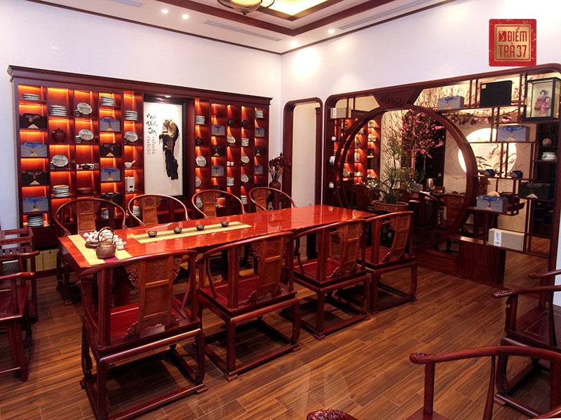 Phòng trà truyền thống mang đậm phong chách Á Đông tinh tế