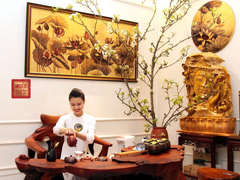 Không gian thưởng trà tại nhà hàng 37A Hùng Vương