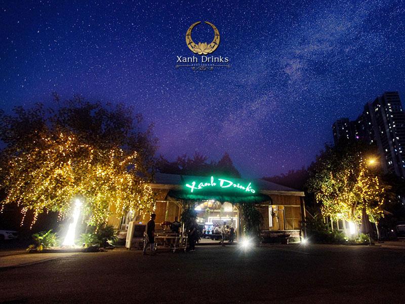 Nhà hàng Xanh Drinks – Không gian tổ chức tiệc ấm cúng, gần gũi