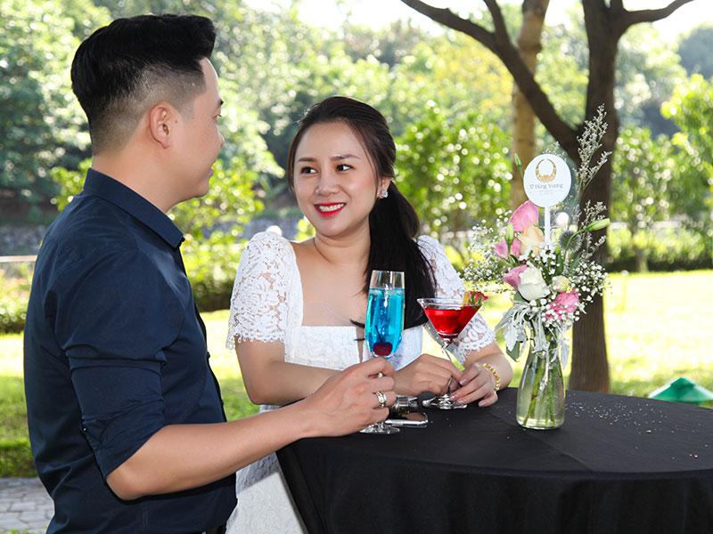 Không gian tiệc sinh nhật lãng mạn dành cho 2 người