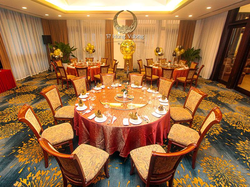 Không gian tổ chức sinh nhật tại phòng VIP nhà hàng NCC