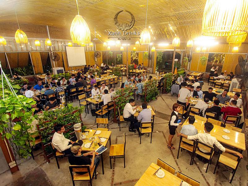 Nhà hàng Xanh Drinks – Địa điểm đặt tiệc công ty mới mẻ tại Trung tâm hội nghị Quốc gia
