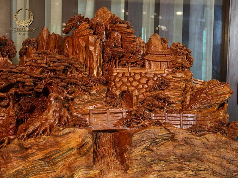 Cảnh tiên - Chất liệu gỗ Đinh Đá
